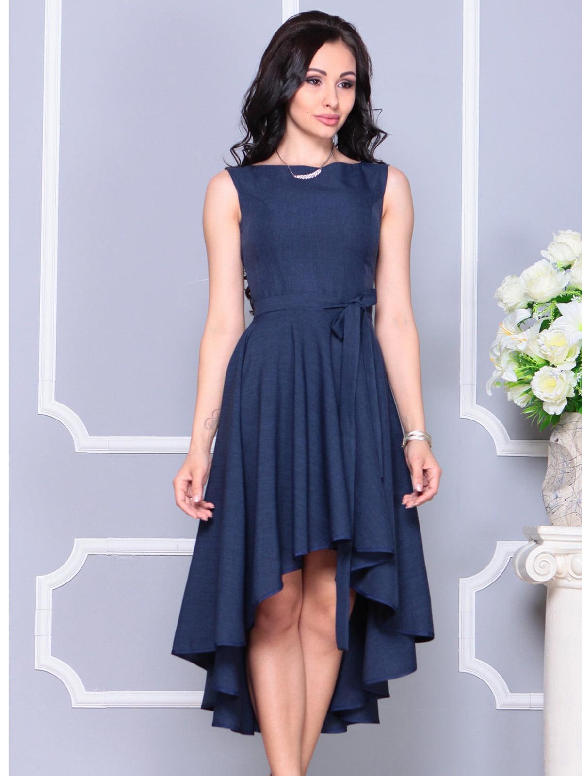 Платье темно-синее | 4222429 | фото 5