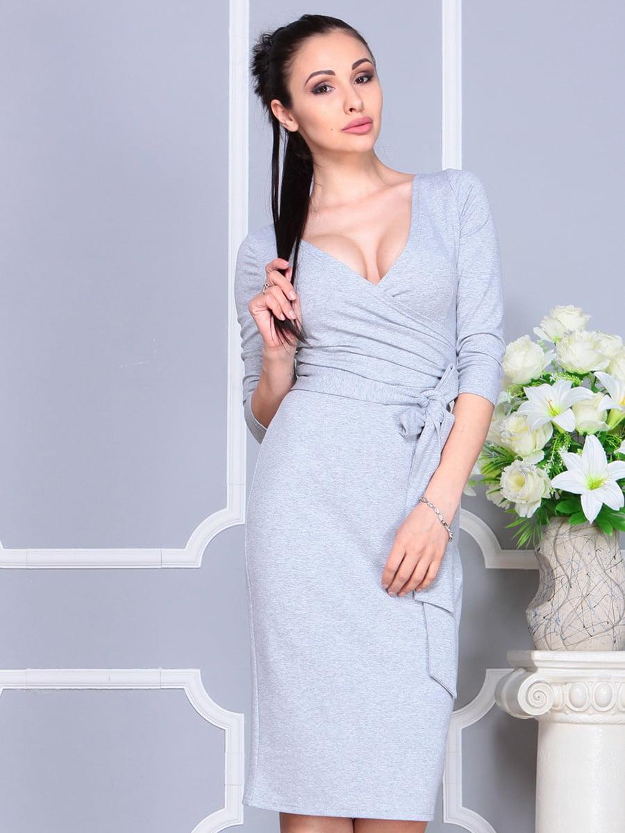 Платье светло-серое   4222432