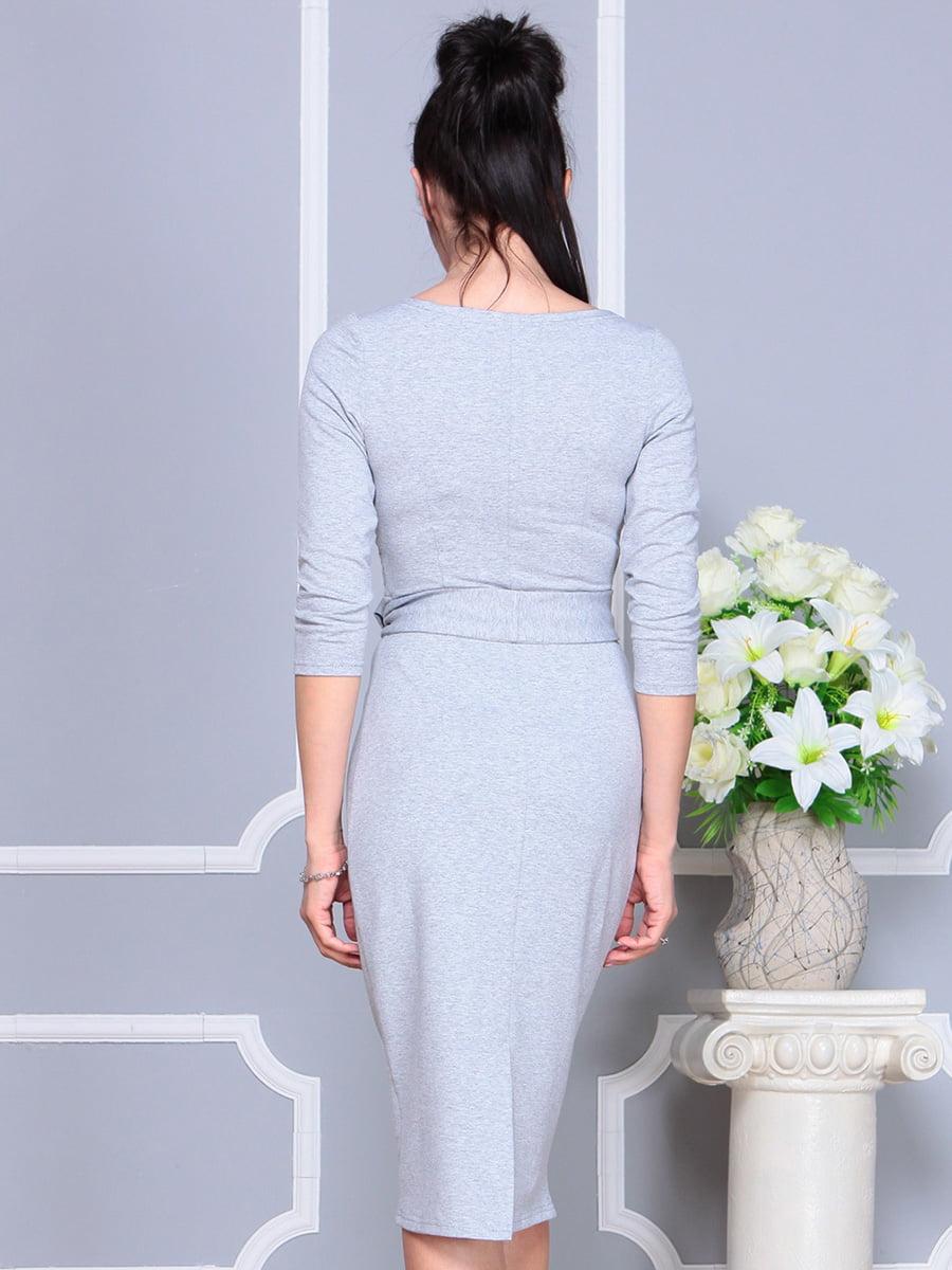 Платье светло-серое   4222432   фото 2