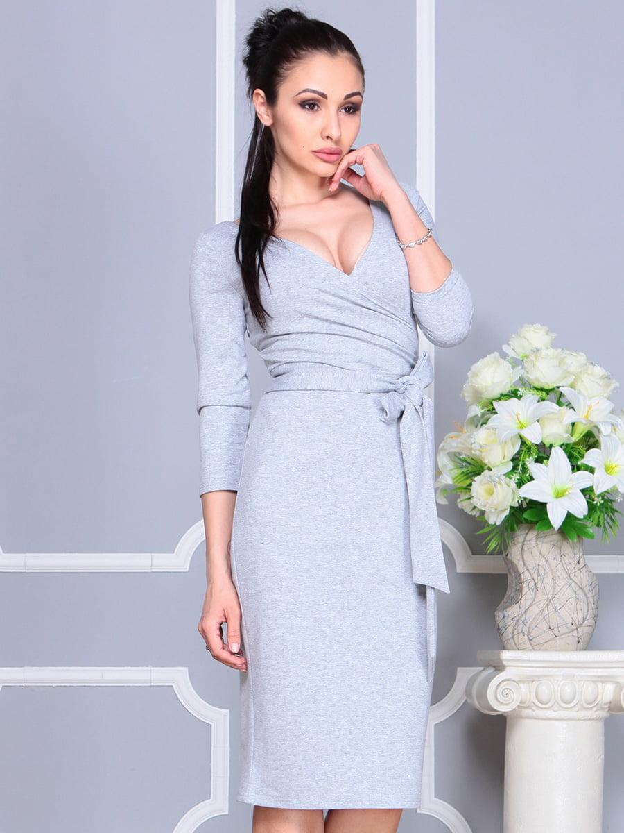 Платье светло-серое   4222432   фото 4