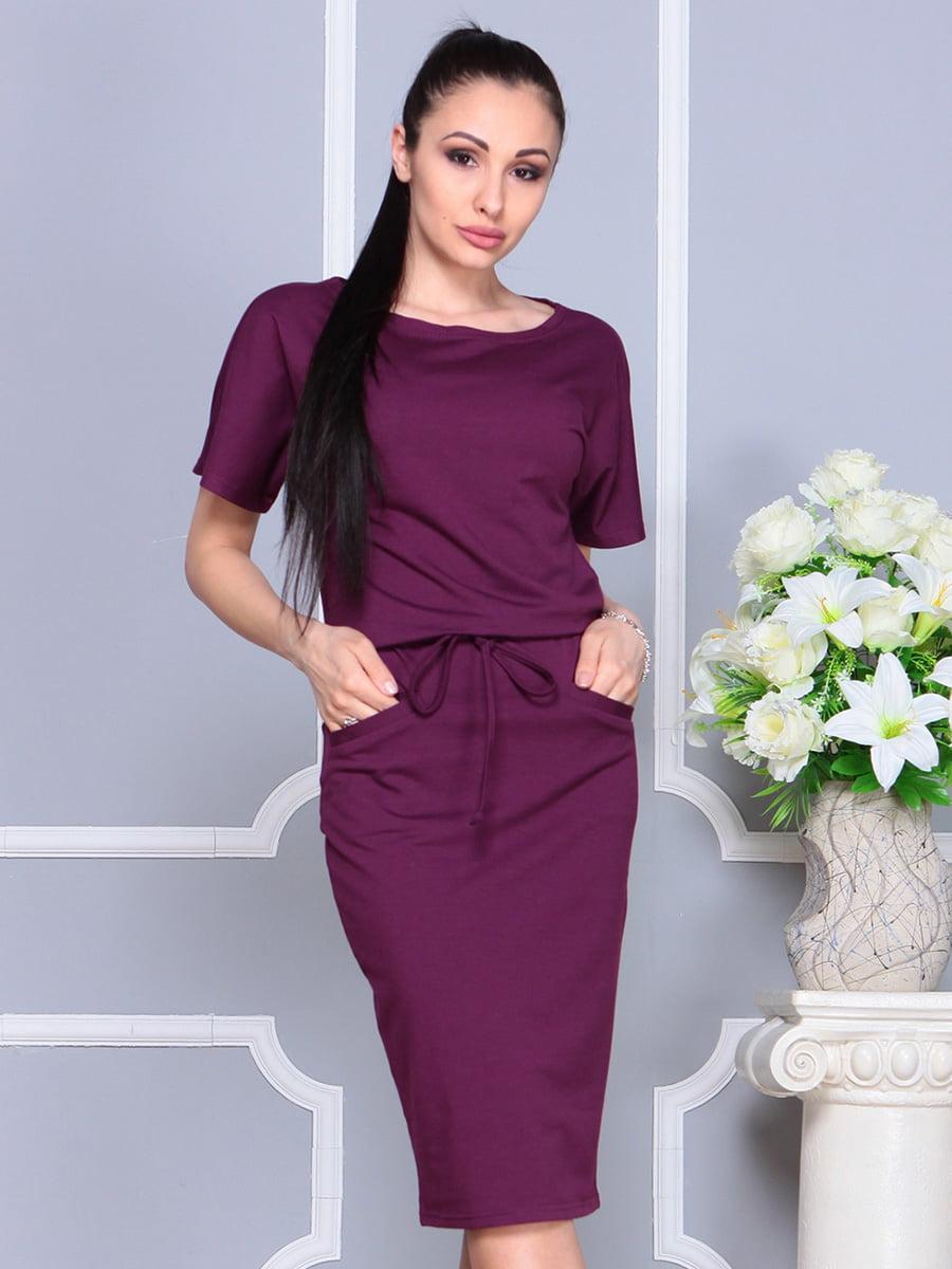 Платье цвета марсала | 4222436