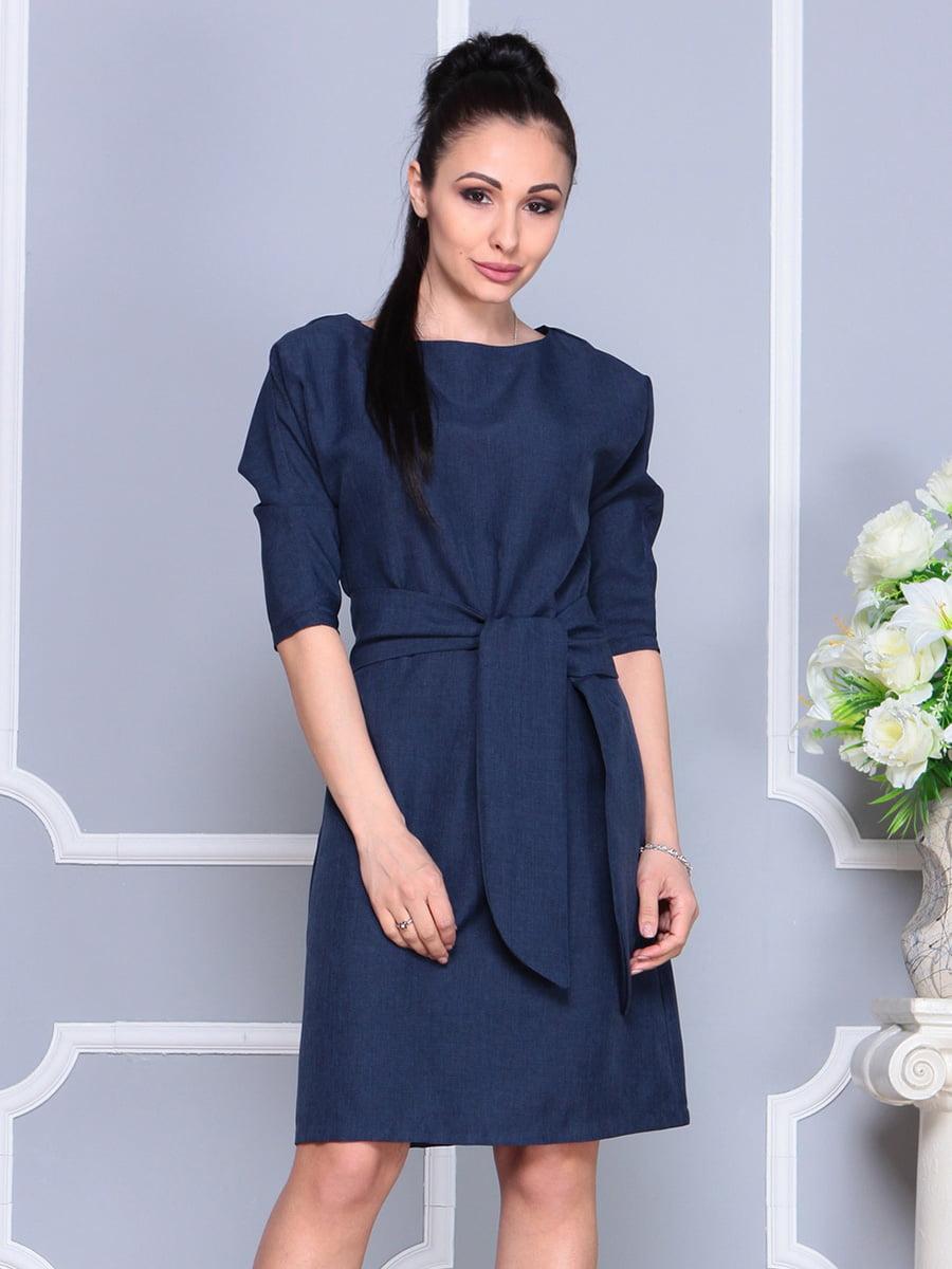 Платье темно-синее | 4222462