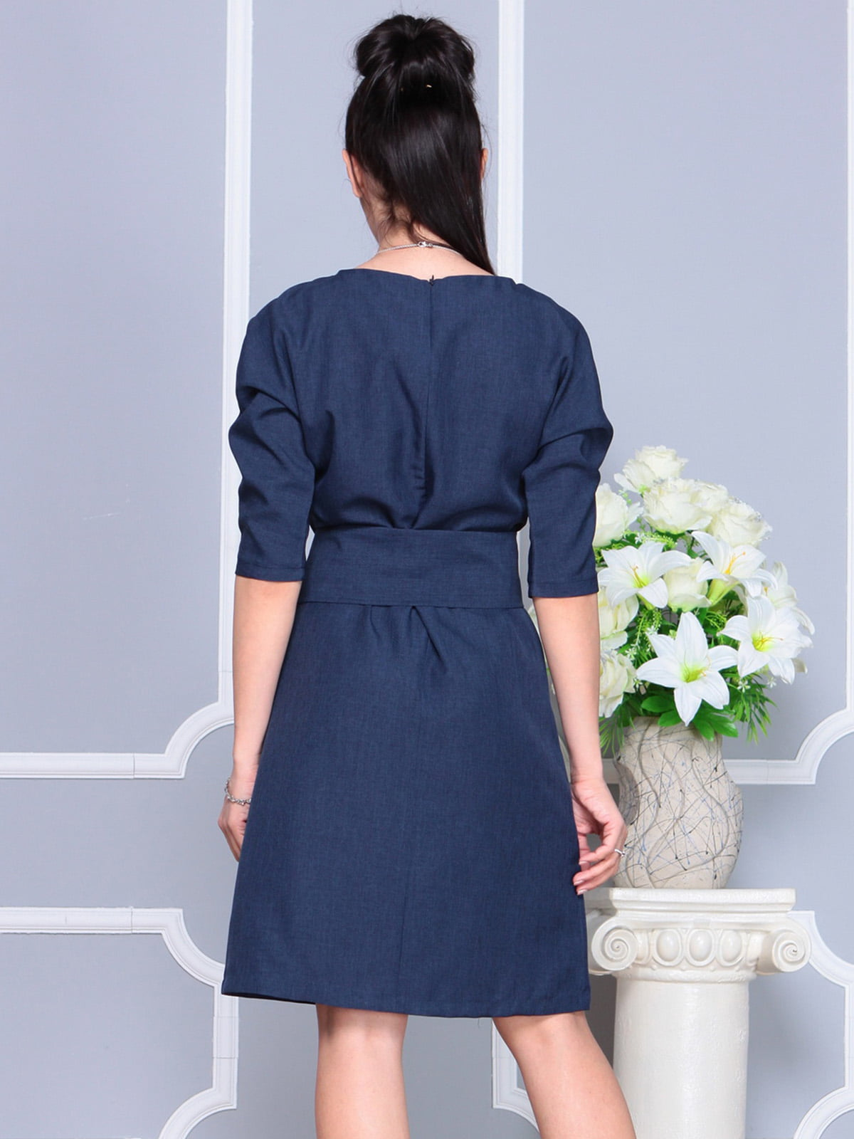 Платье темно-синее | 4222462 | фото 2