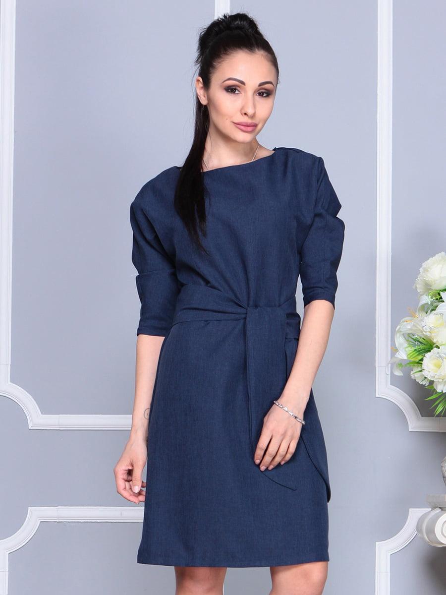 Платье темно-синее | 4222462 | фото 3