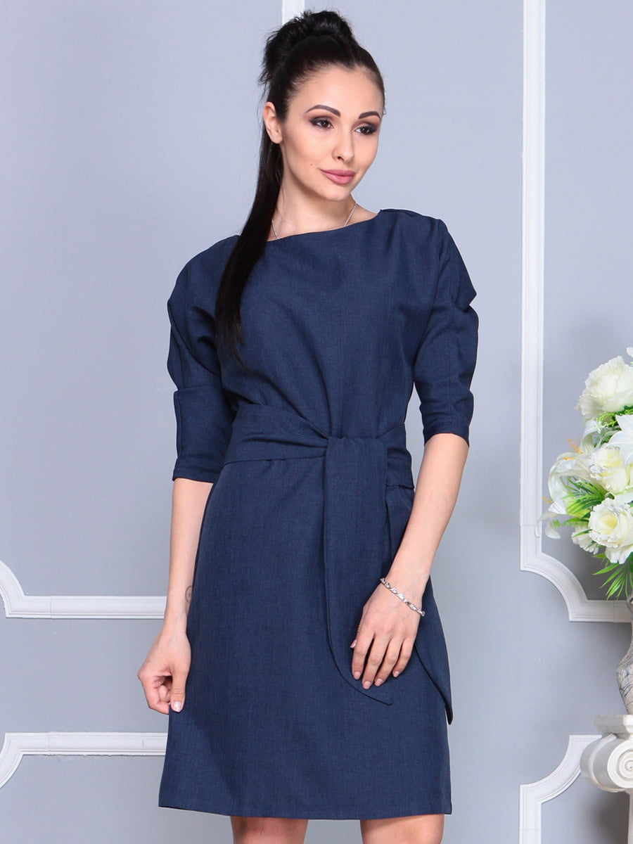 Платье темно-синее | 4222462 | фото 4