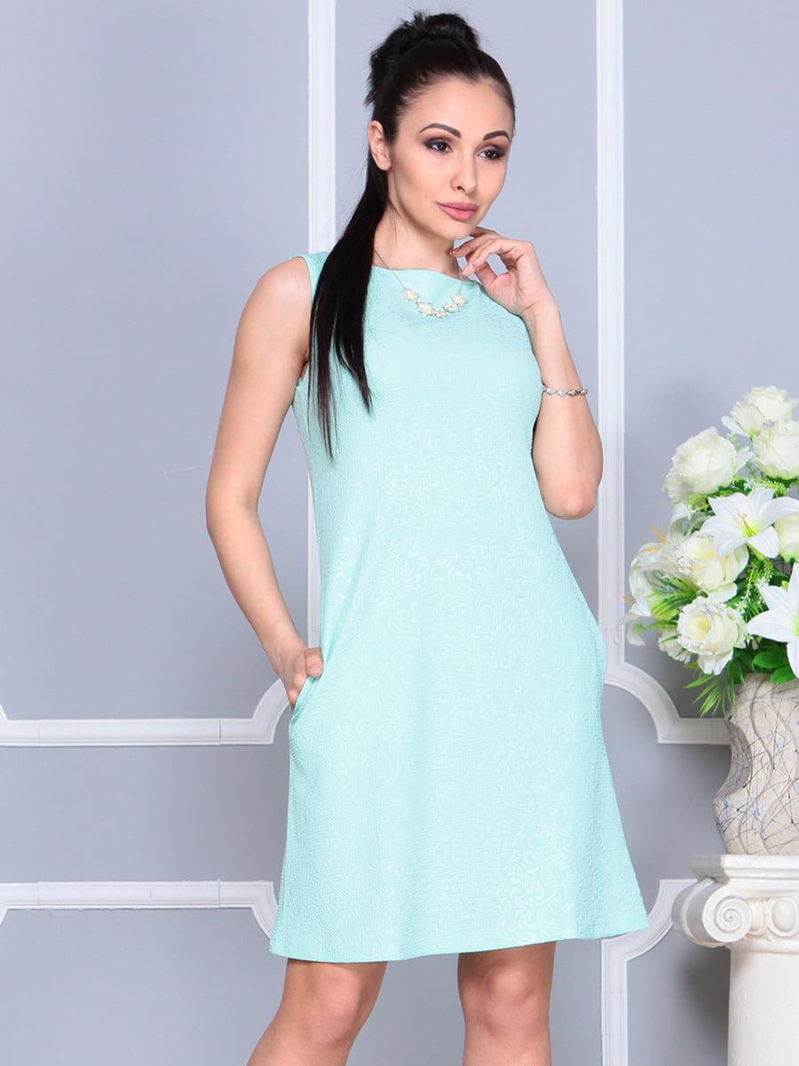 Платье светло-бирюзовое | 4222469 | фото 3