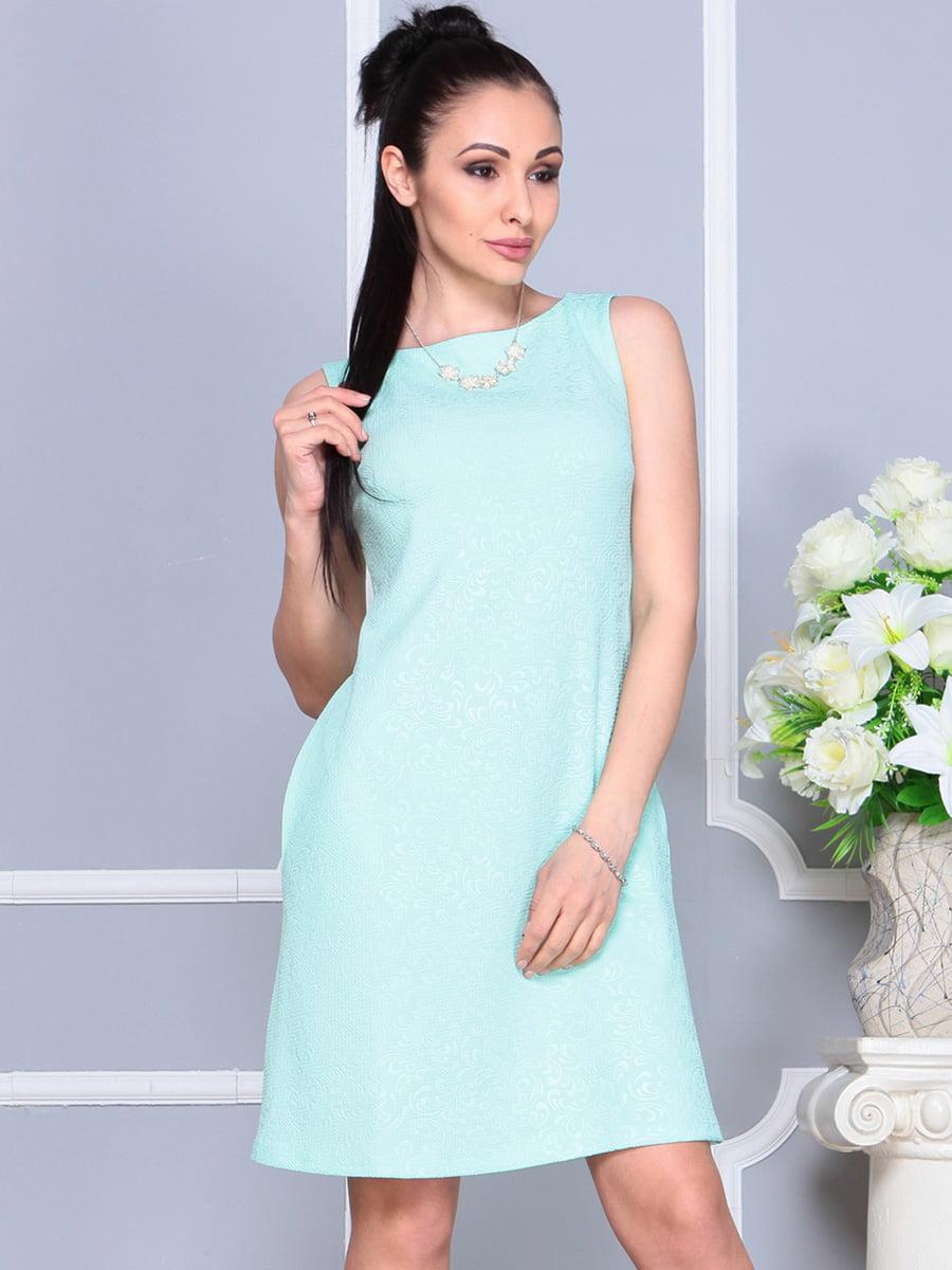 Платье светло-бирюзовое | 4222469 | фото 4