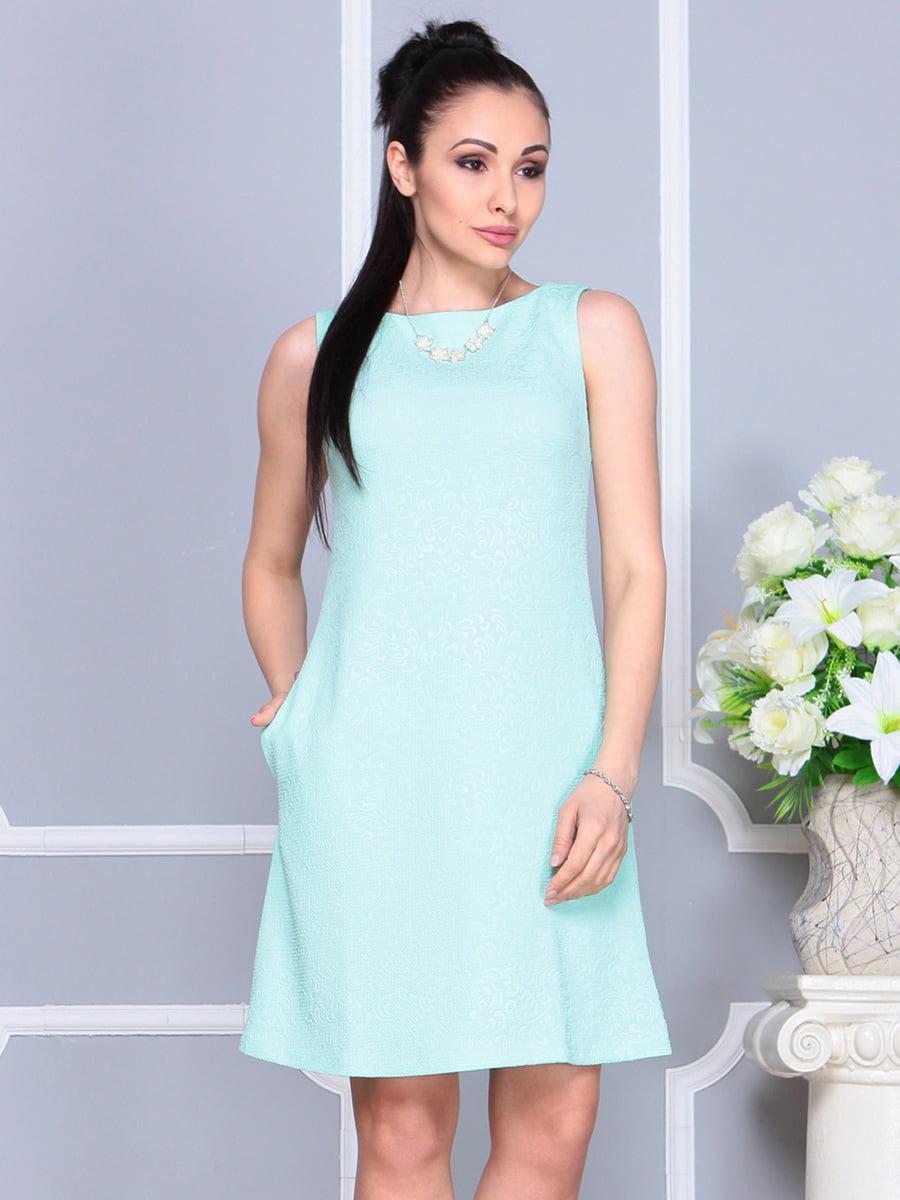 Платье светло-бирюзовое | 4222469 | фото 5
