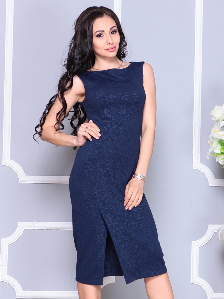 Платье темно-синее | 4222472 | фото 3