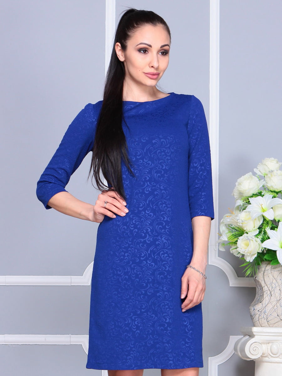 Платье цвета электрик | 4222478 | фото 5