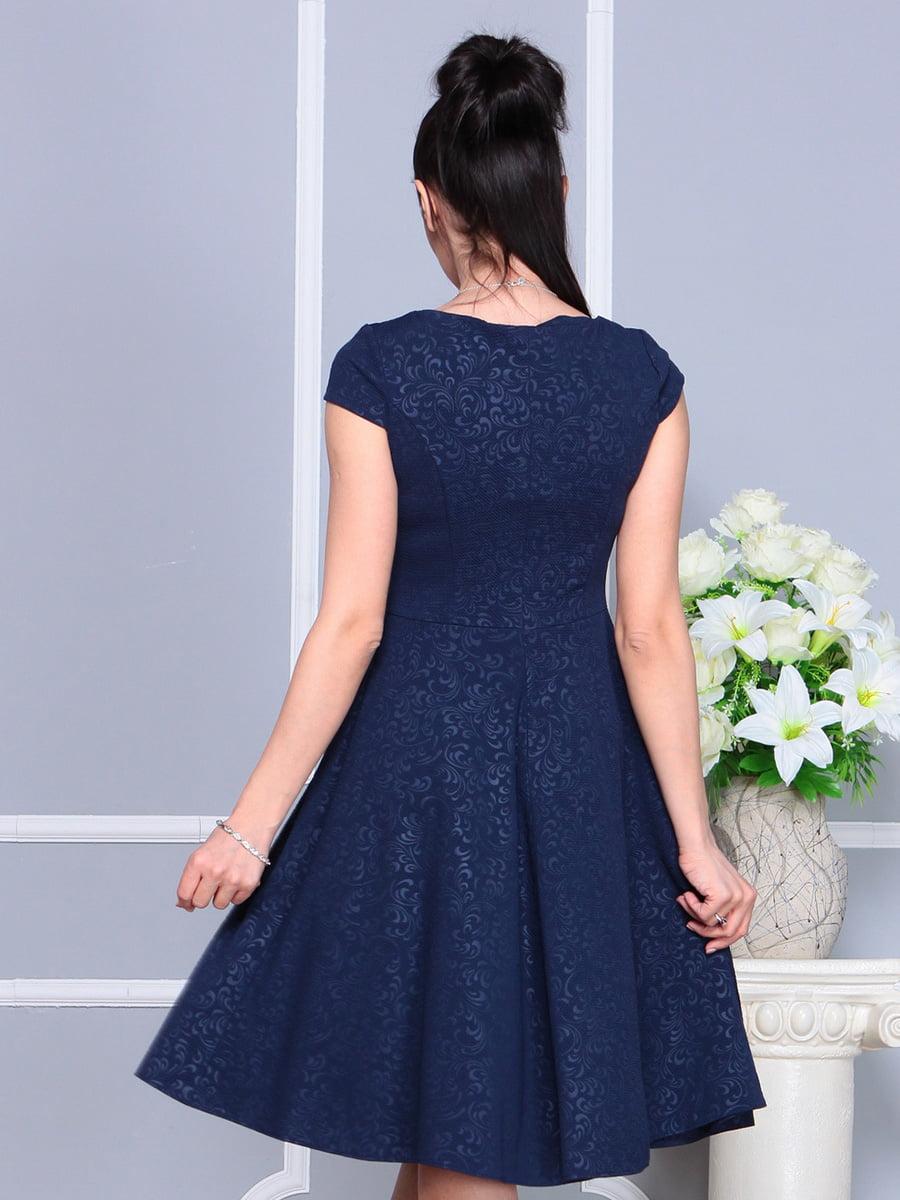 Платье темно-синее | 4222484 | фото 2