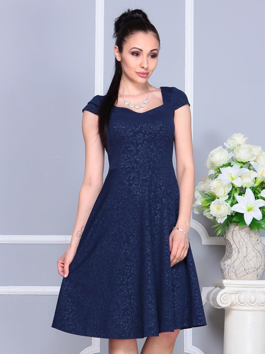 Платье темно-синее | 4222484 | фото 3