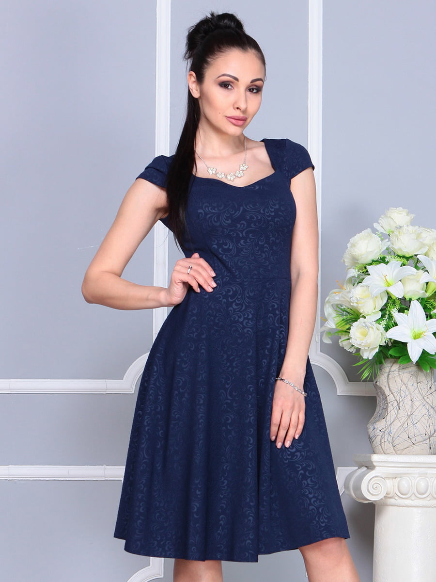 Платье темно-синее | 4222484 | фото 4