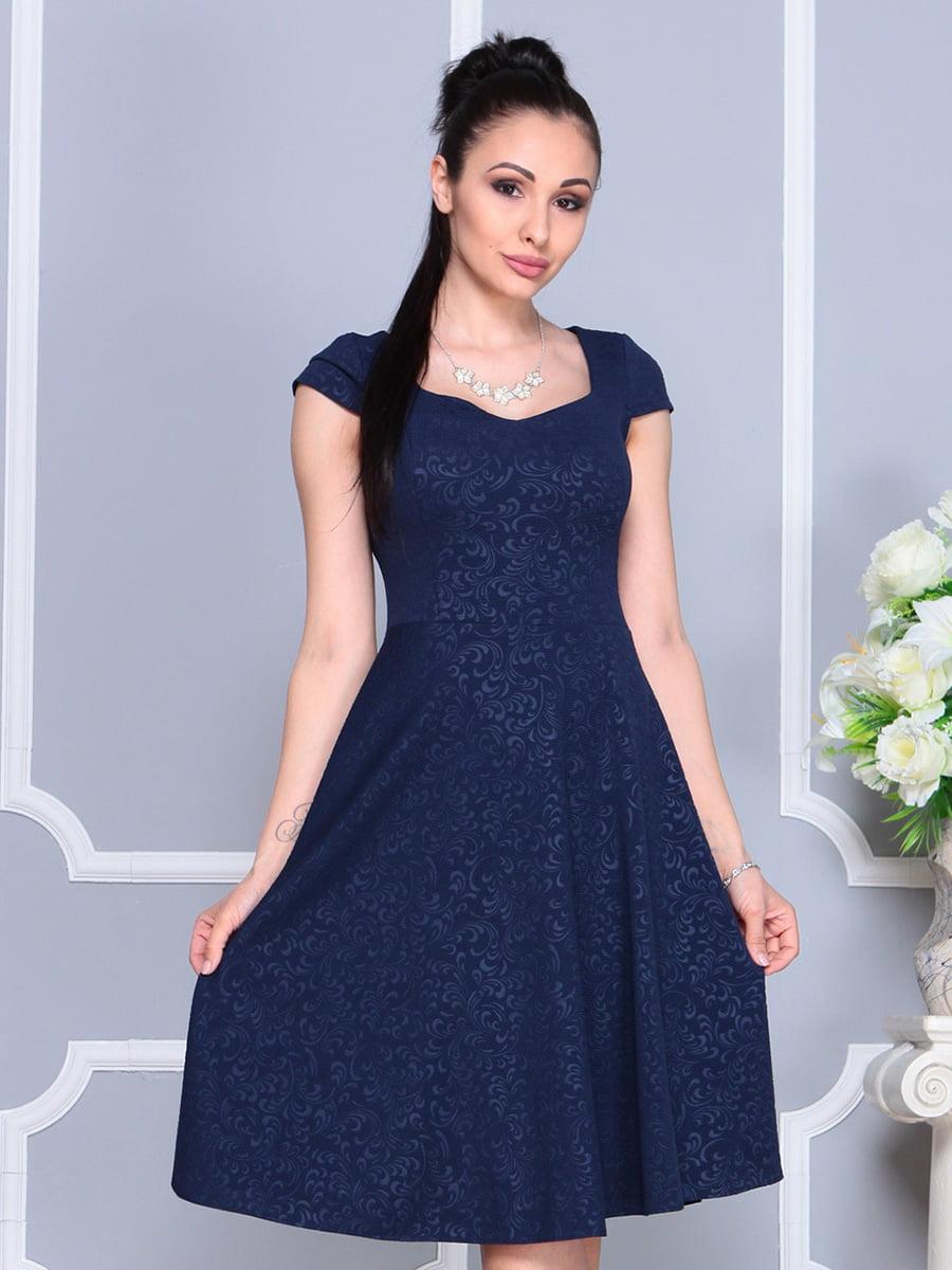 Платье темно-синее | 4222484 | фото 5