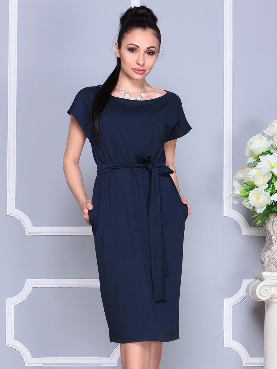 Платье темно-синее | 4222490