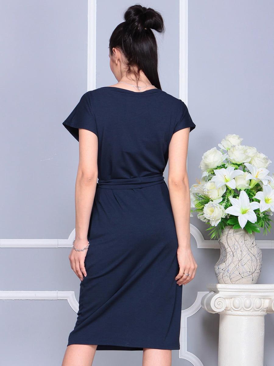 Платье темно-синее | 4222490 | фото 2
