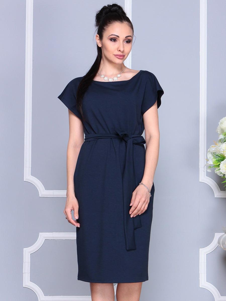 Платье темно-синее | 4222490 | фото 4