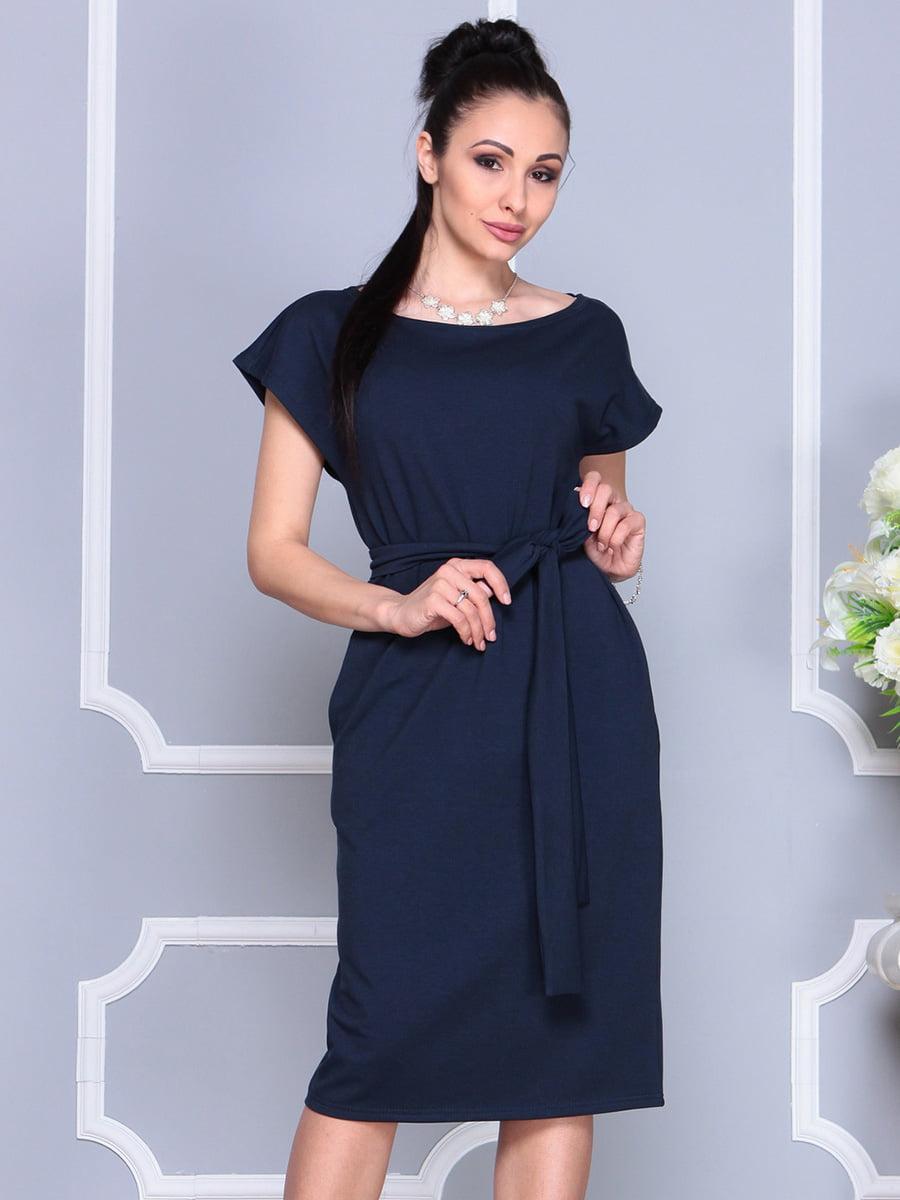 Платье темно-синее | 4222490 | фото 5