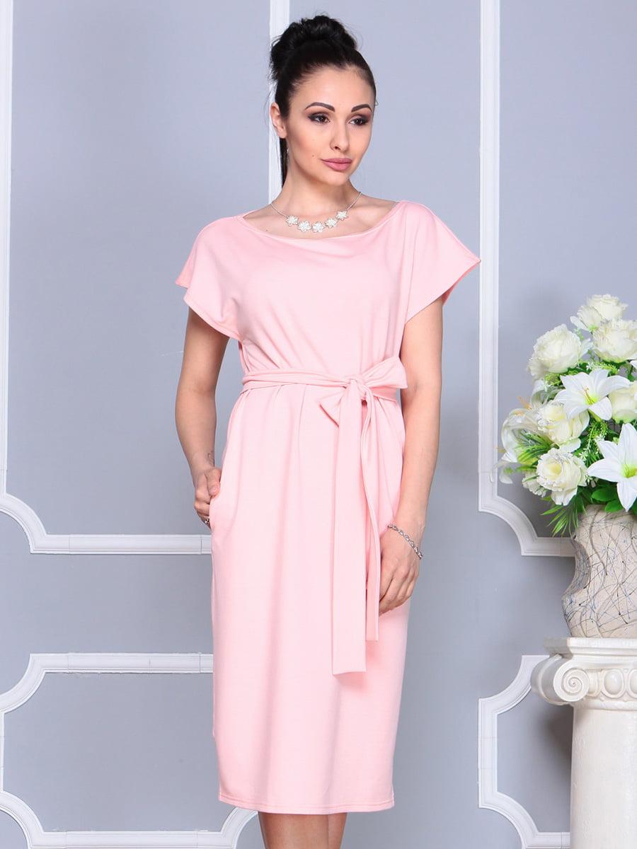 Платье персикового цвета | 4222491 | фото 4