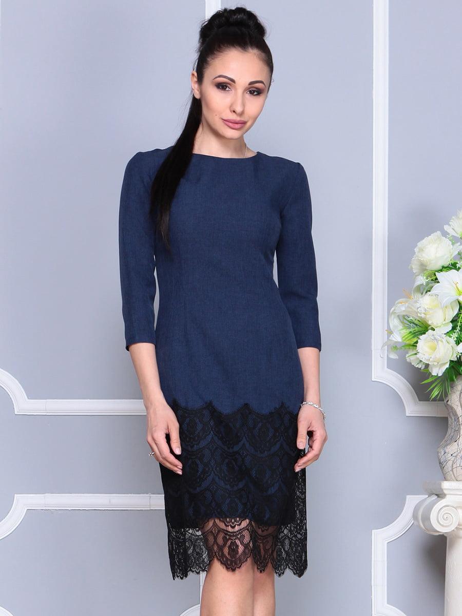 Платье темно-синее | 4222502