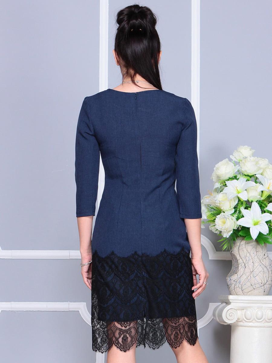 Платье темно-синее | 4222502 | фото 2