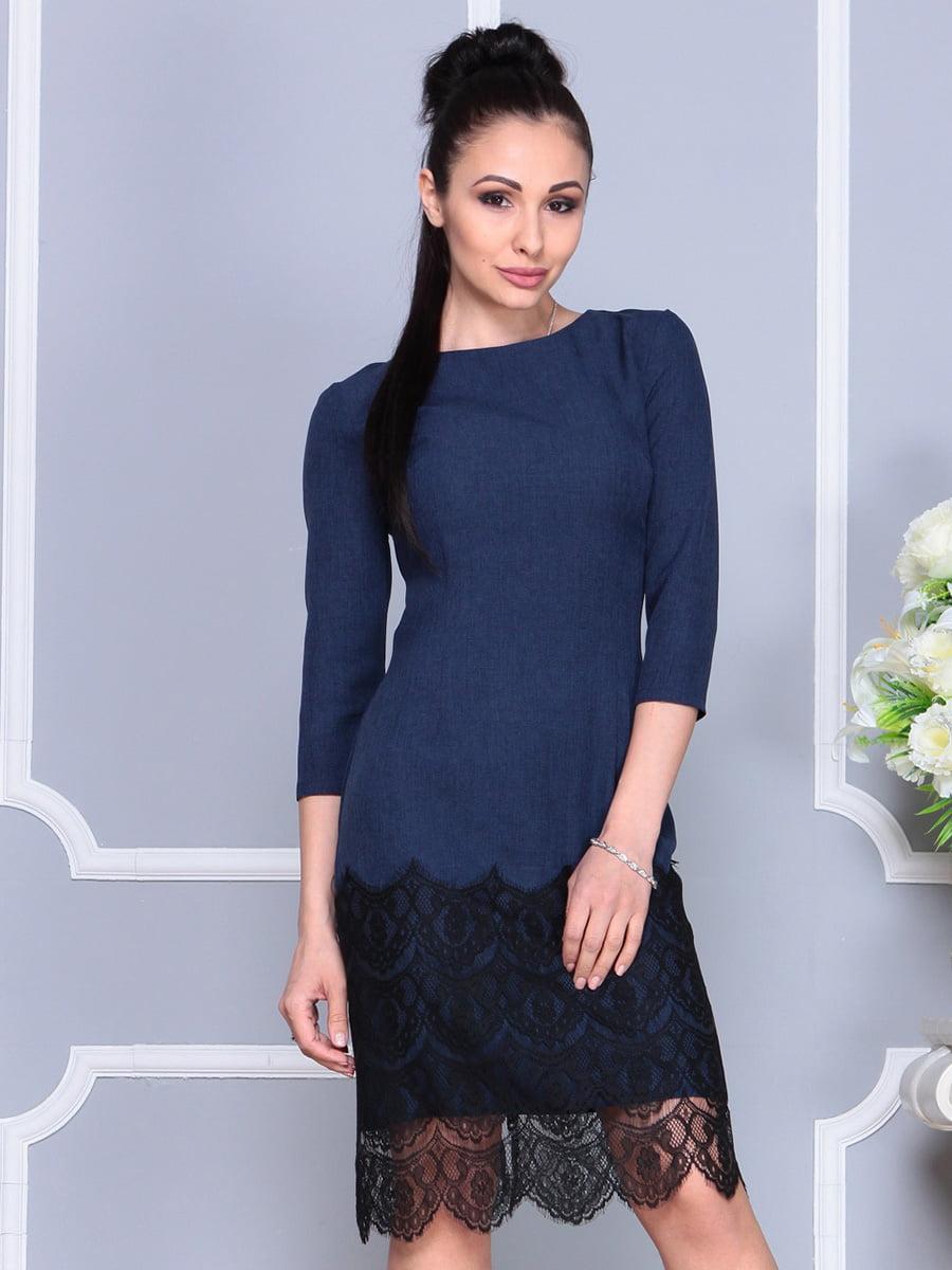 Платье темно-синее | 4222502 | фото 3
