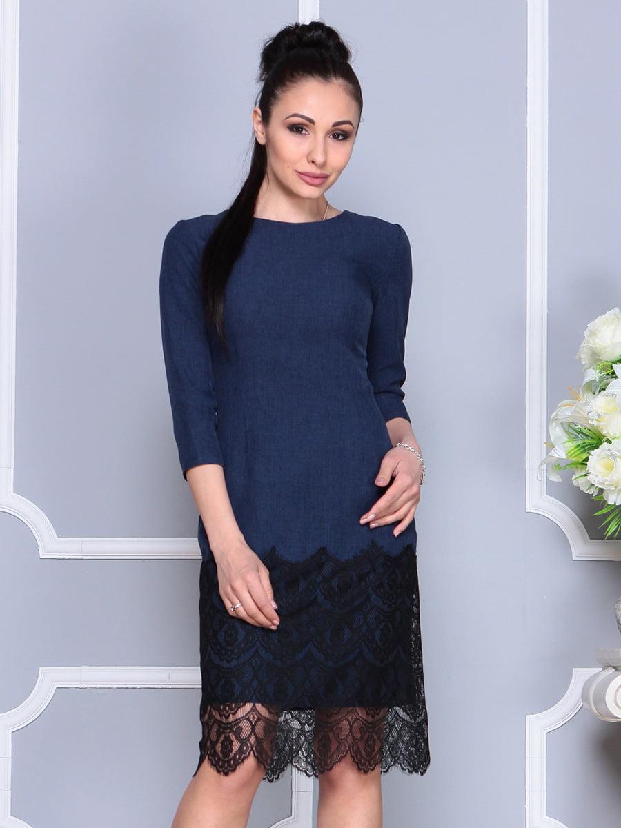 Платье темно-синее | 4222502 | фото 4