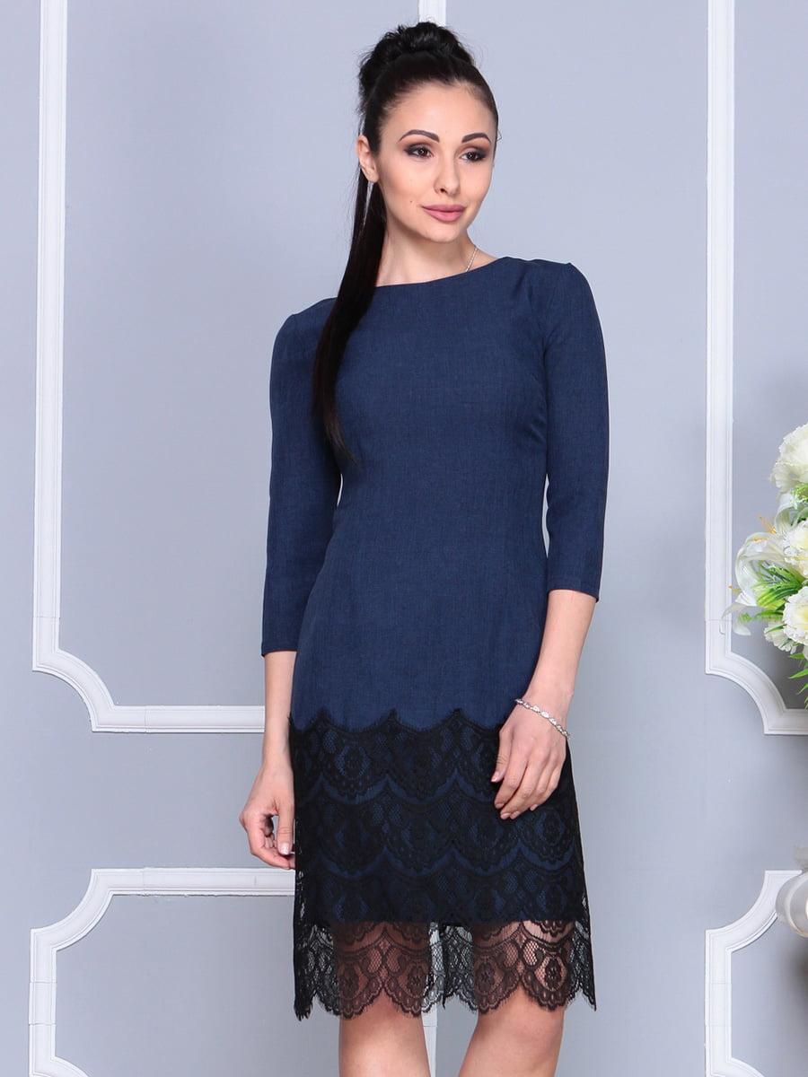 Платье темно-синее | 4222502 | фото 5