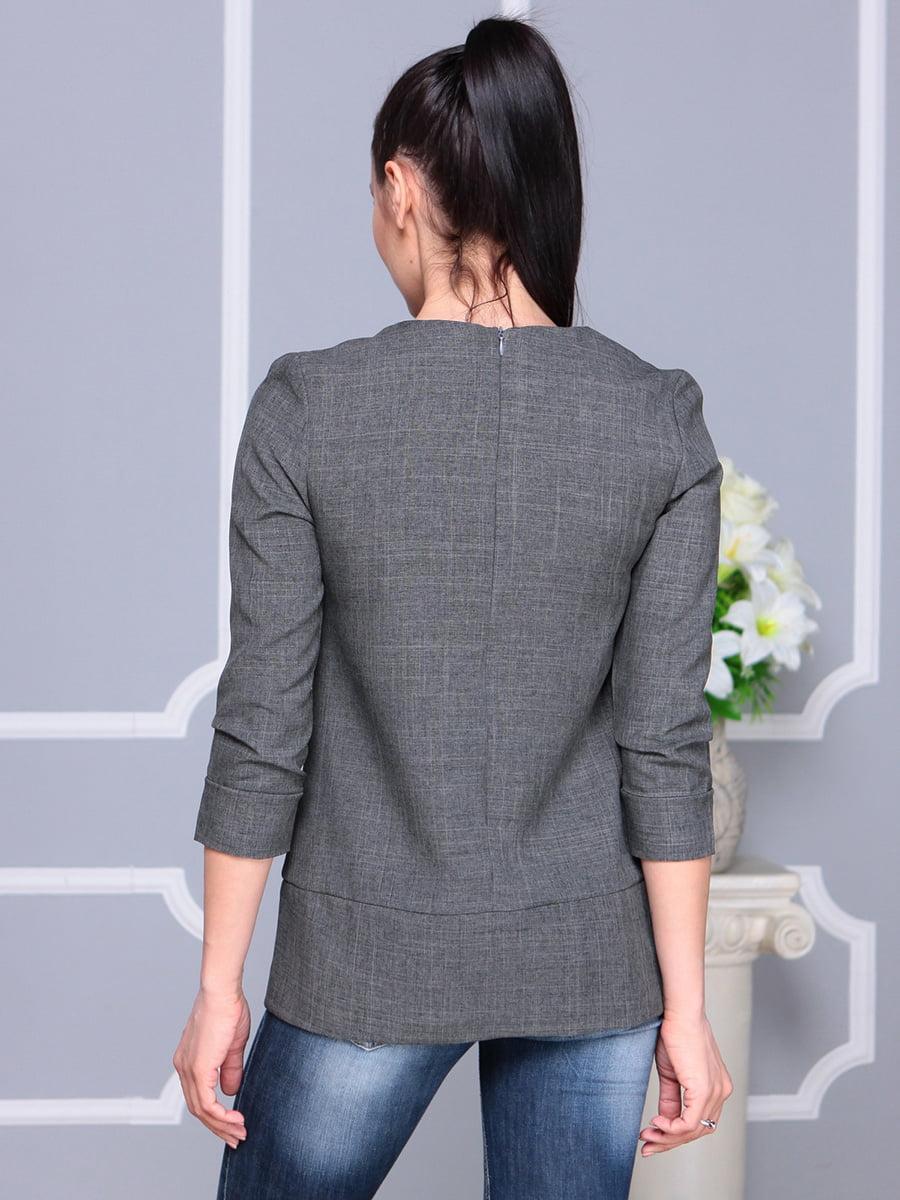 Блуза графитового цвета | 4222504 | фото 2