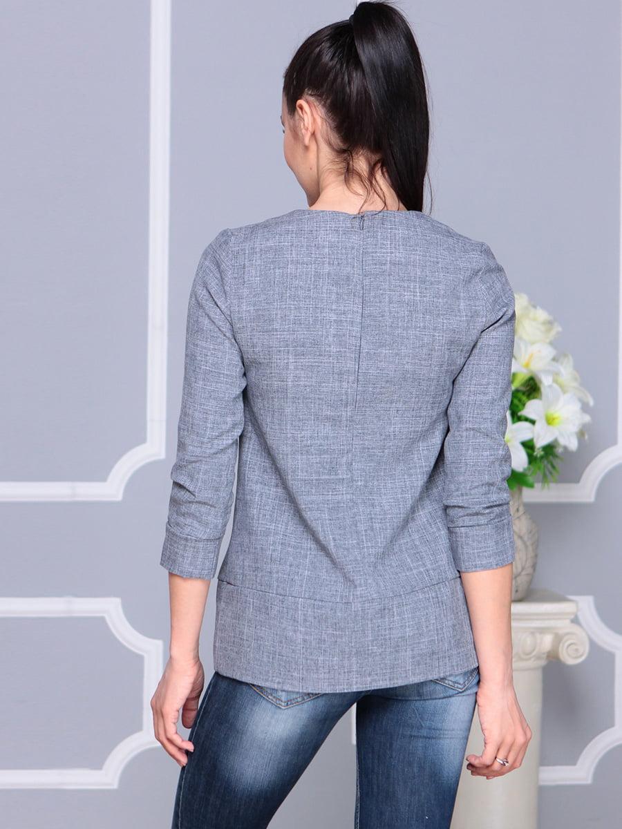 Блуза дымчатого цвета | 4222505 | фото 2