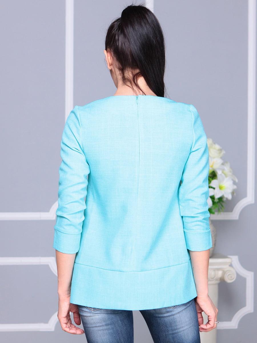 Блуза светло-бирюзовая | 4222506 | фото 2