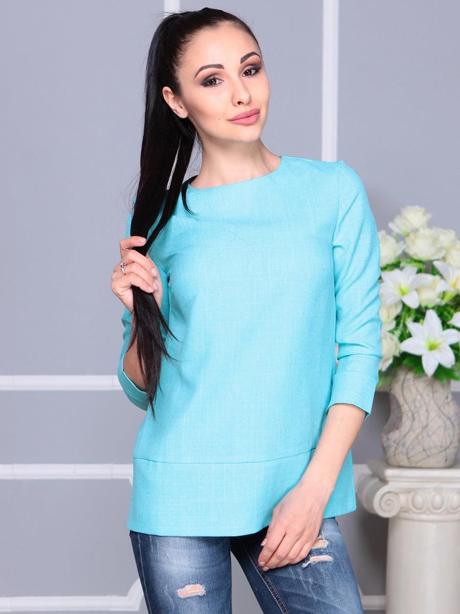 Блуза светло-бирюзовая | 4222506 | фото 3