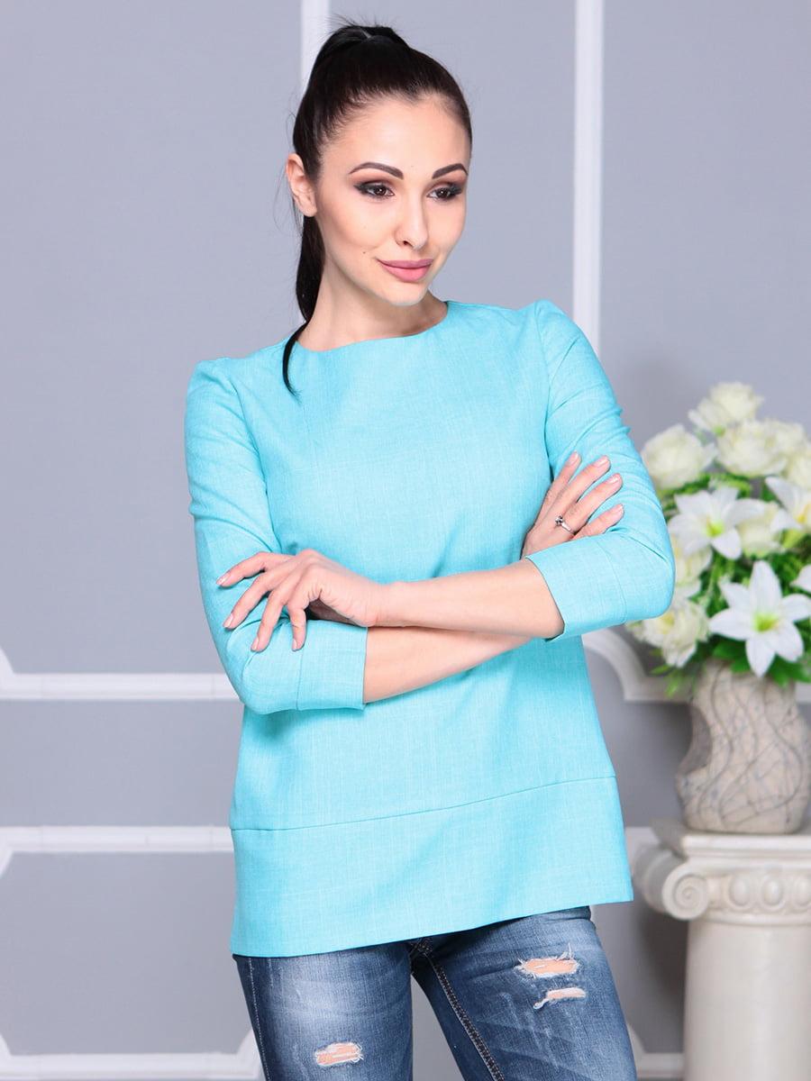 Блуза светло-бирюзовая | 4222506 | фото 4