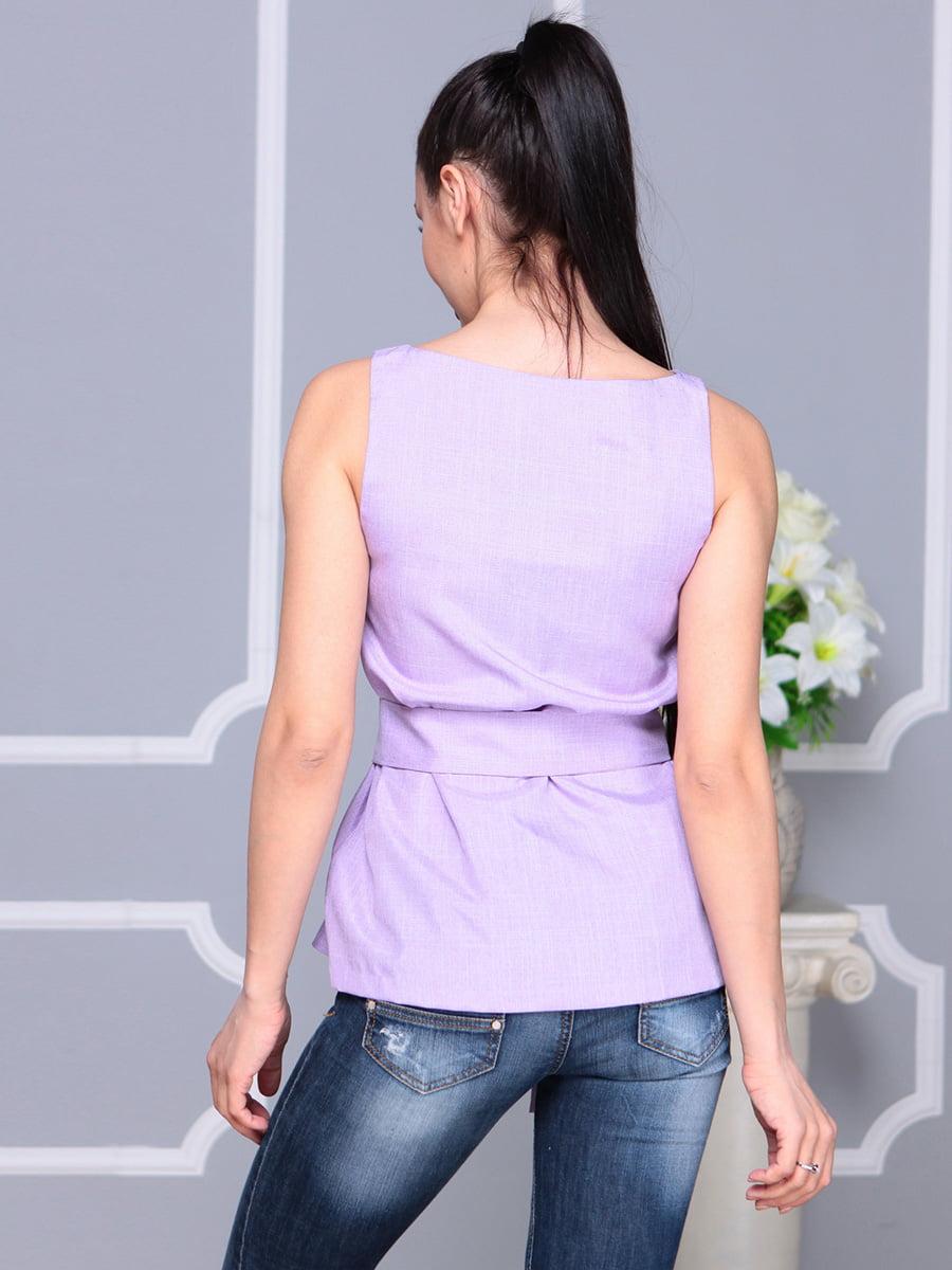 Блуза светло-фиалкового цвета | 4222511 | фото 2