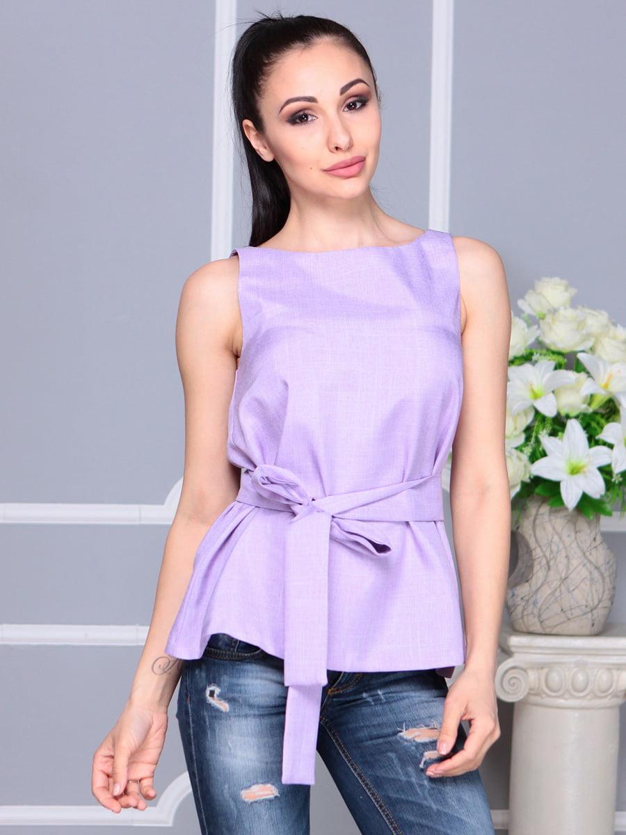 Блуза светло-фиалкового цвета | 4222511 | фото 3