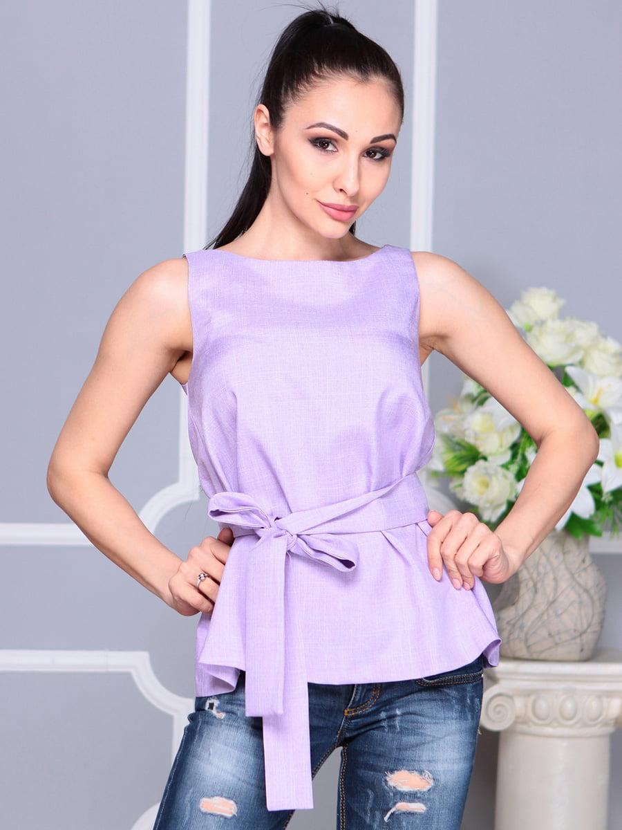 Блуза светло-фиалкового цвета | 4222511 | фото 4