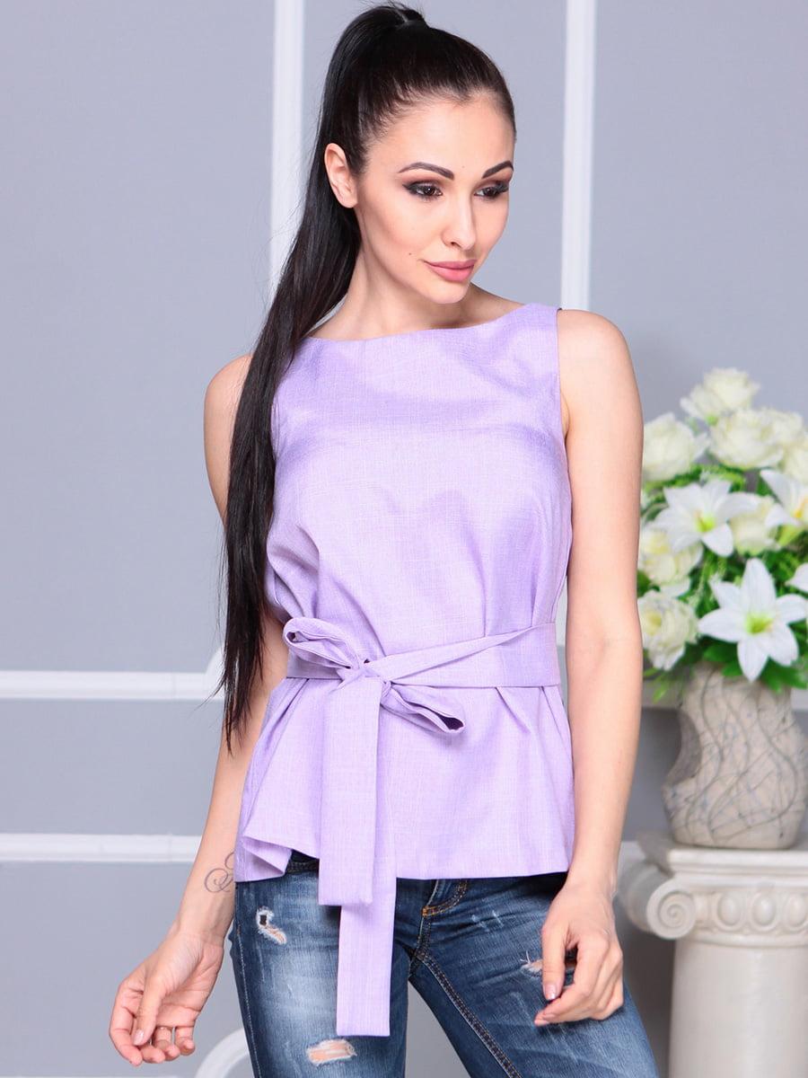 Блуза светло-фиалкового цвета | 4222511 | фото 5