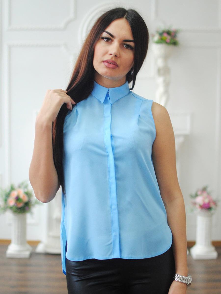 Блуза блакитна | 4234225
