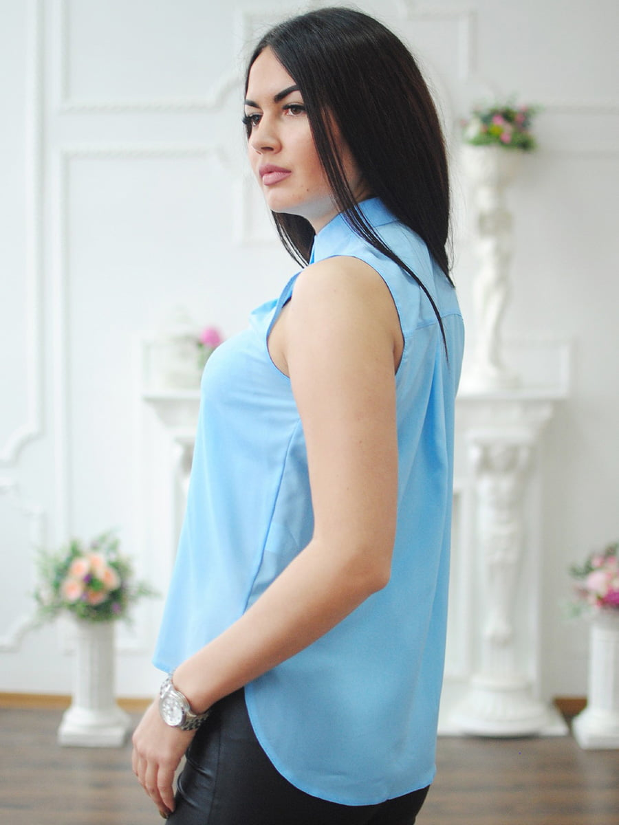 Блуза блакитна | 4234225 | фото 2