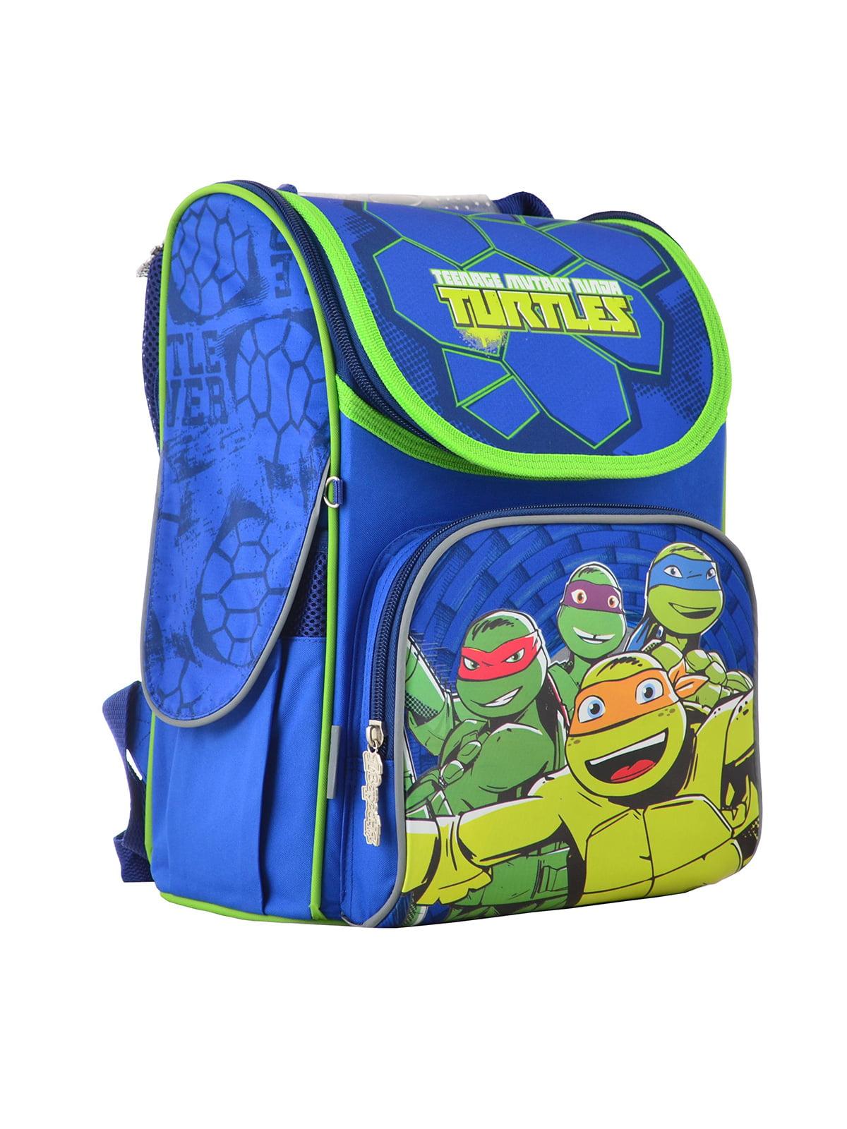 Рюкзак блакитний з принтом | 4235631