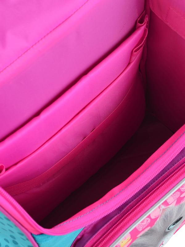 Рюкзак рожевий з принтом | 4235635 | фото 2