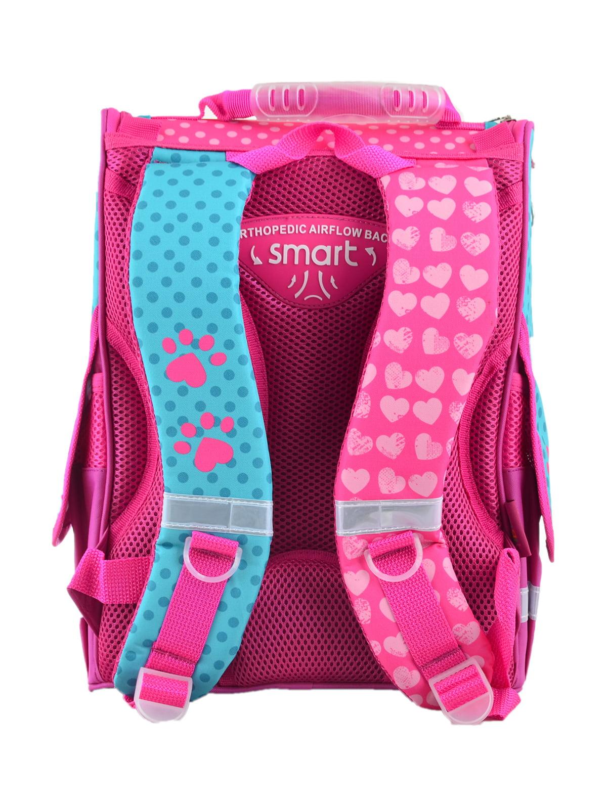 Рюкзак рожевий з принтом | 4235635 | фото 3