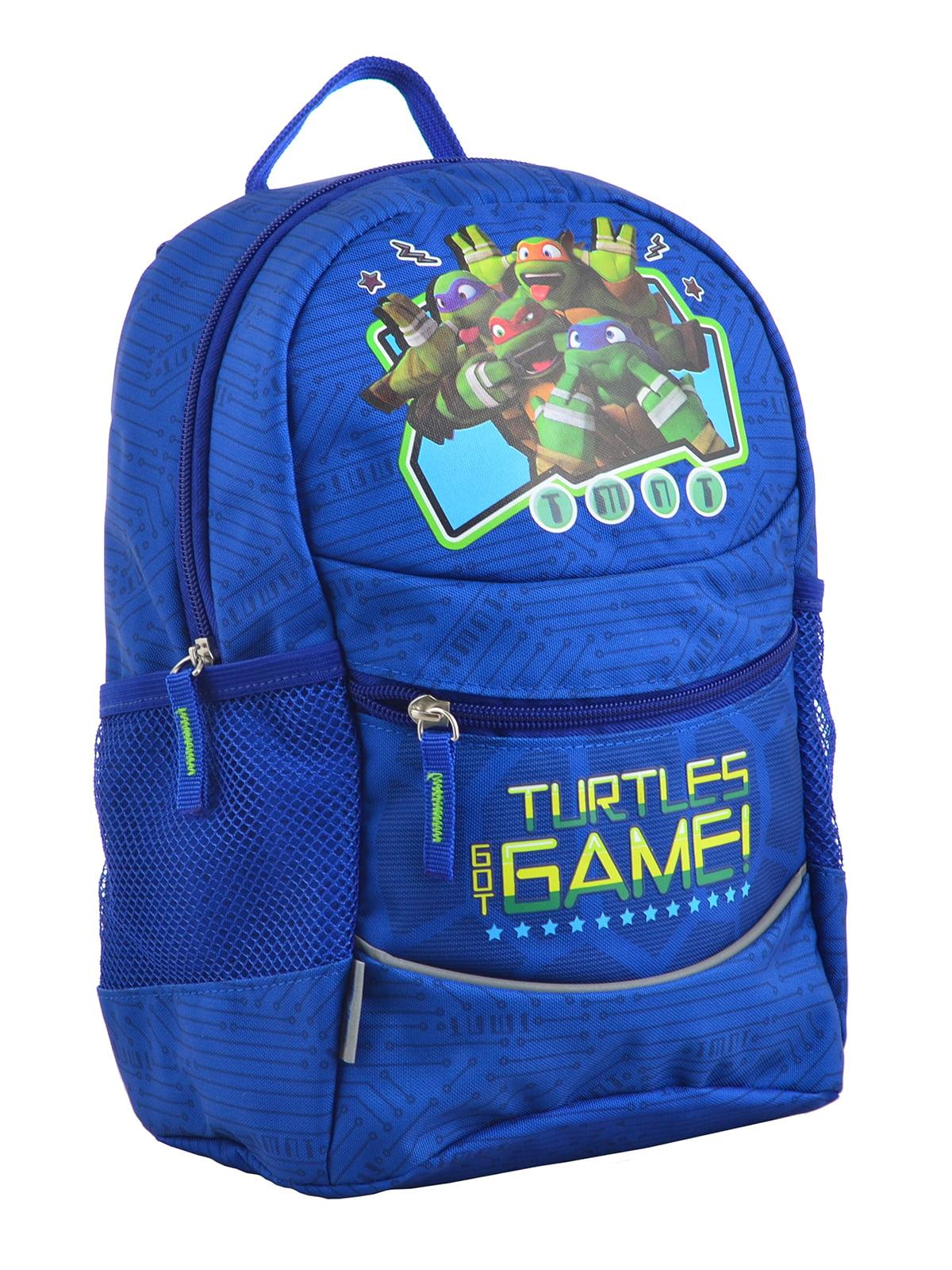 Рюкзак синій з принтом | 4235675