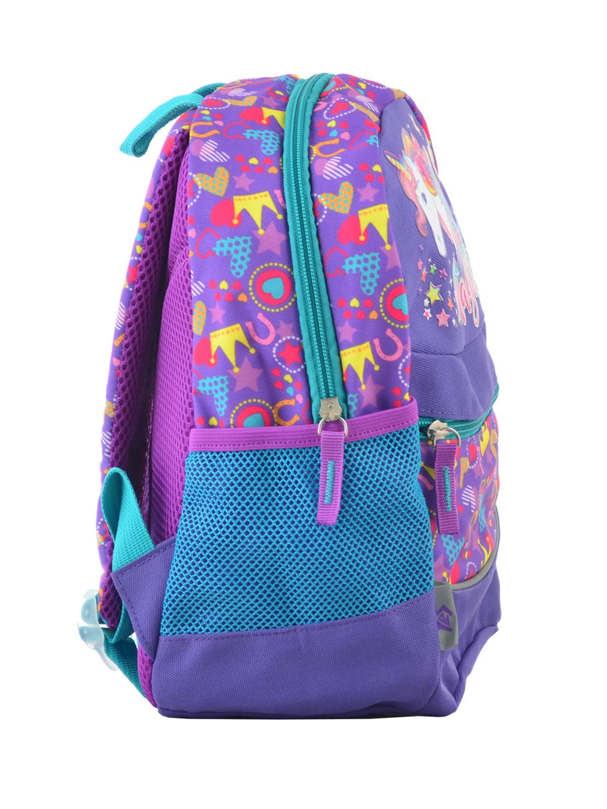 Рюкзак дитячий фіолетовий в принт | 4235676 | фото 2