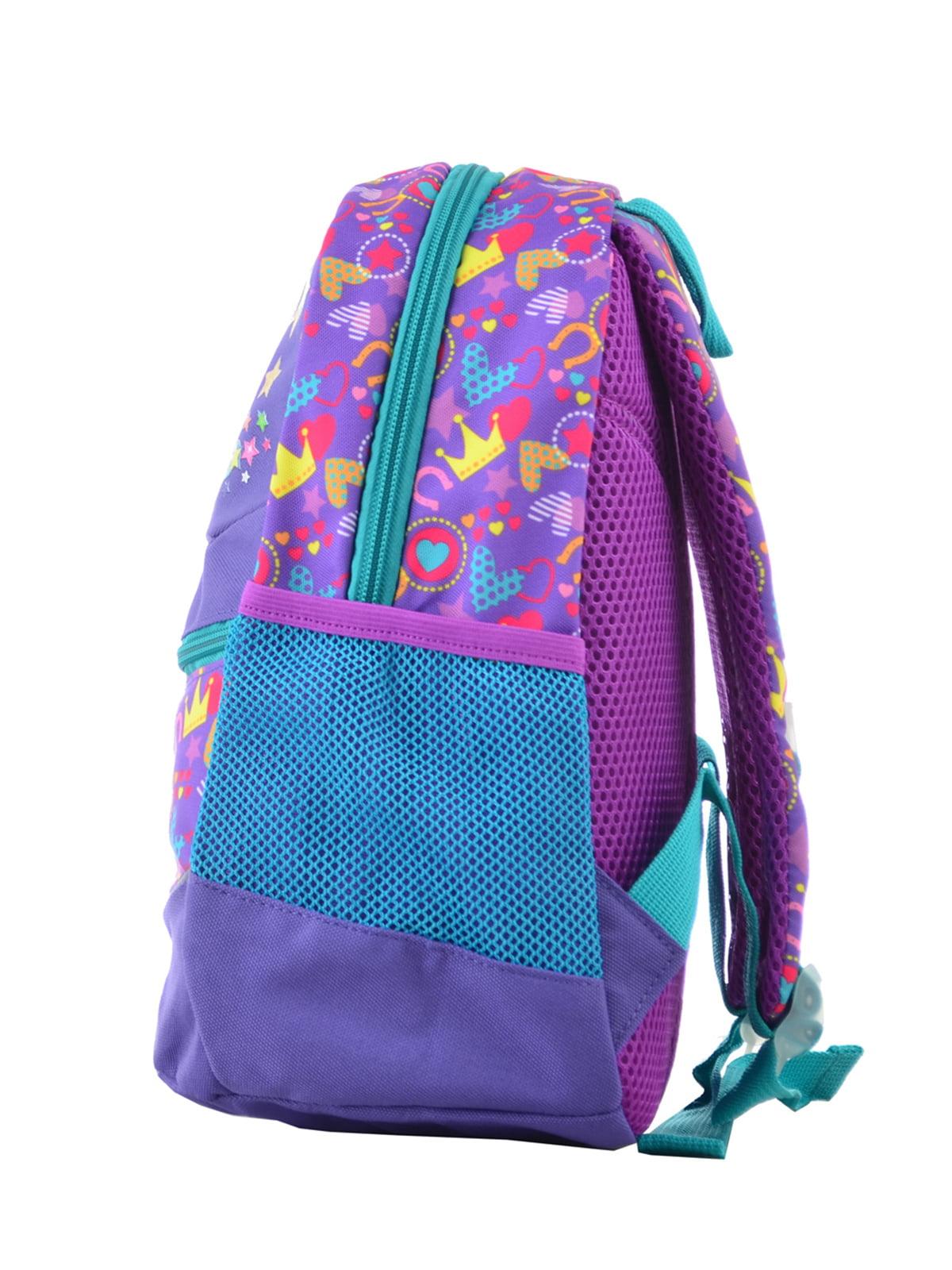 Рюкзак дитячий фіолетовий в принт | 4235676 | фото 3