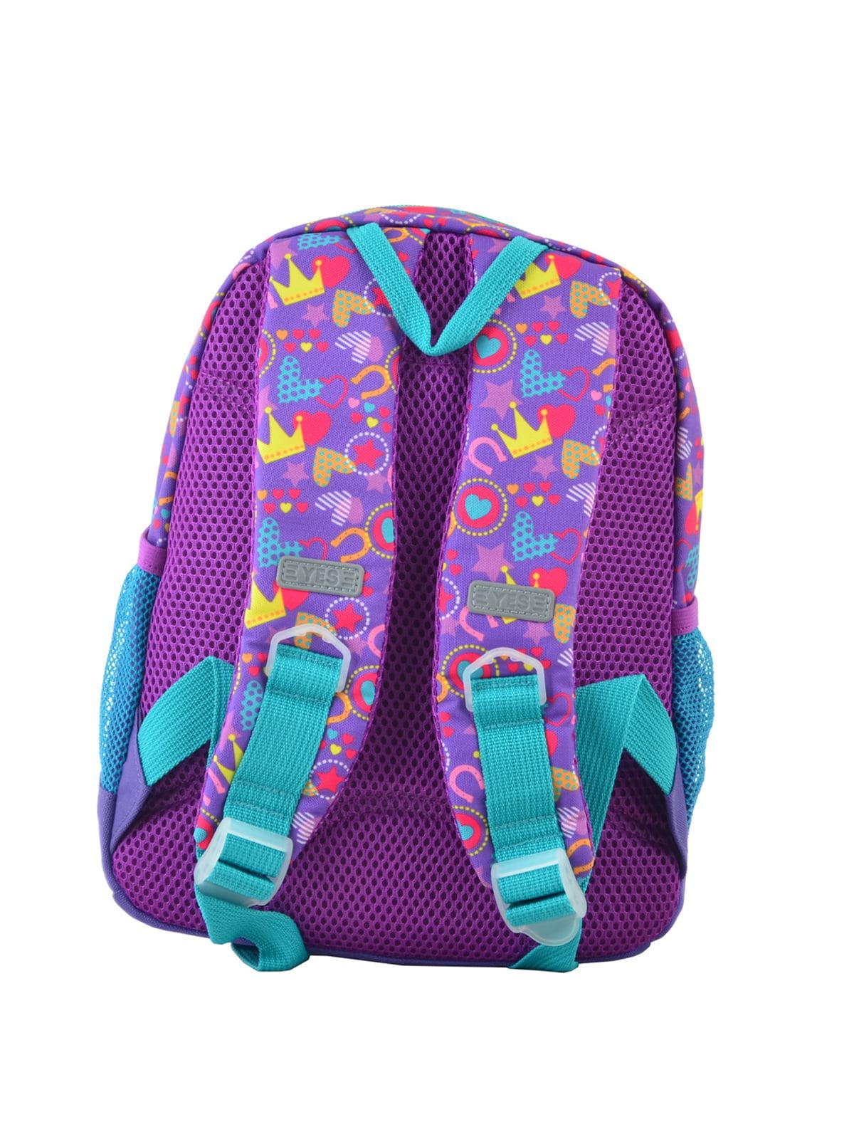 Рюкзак дитячий фіолетовий в принт | 4235676 | фото 4