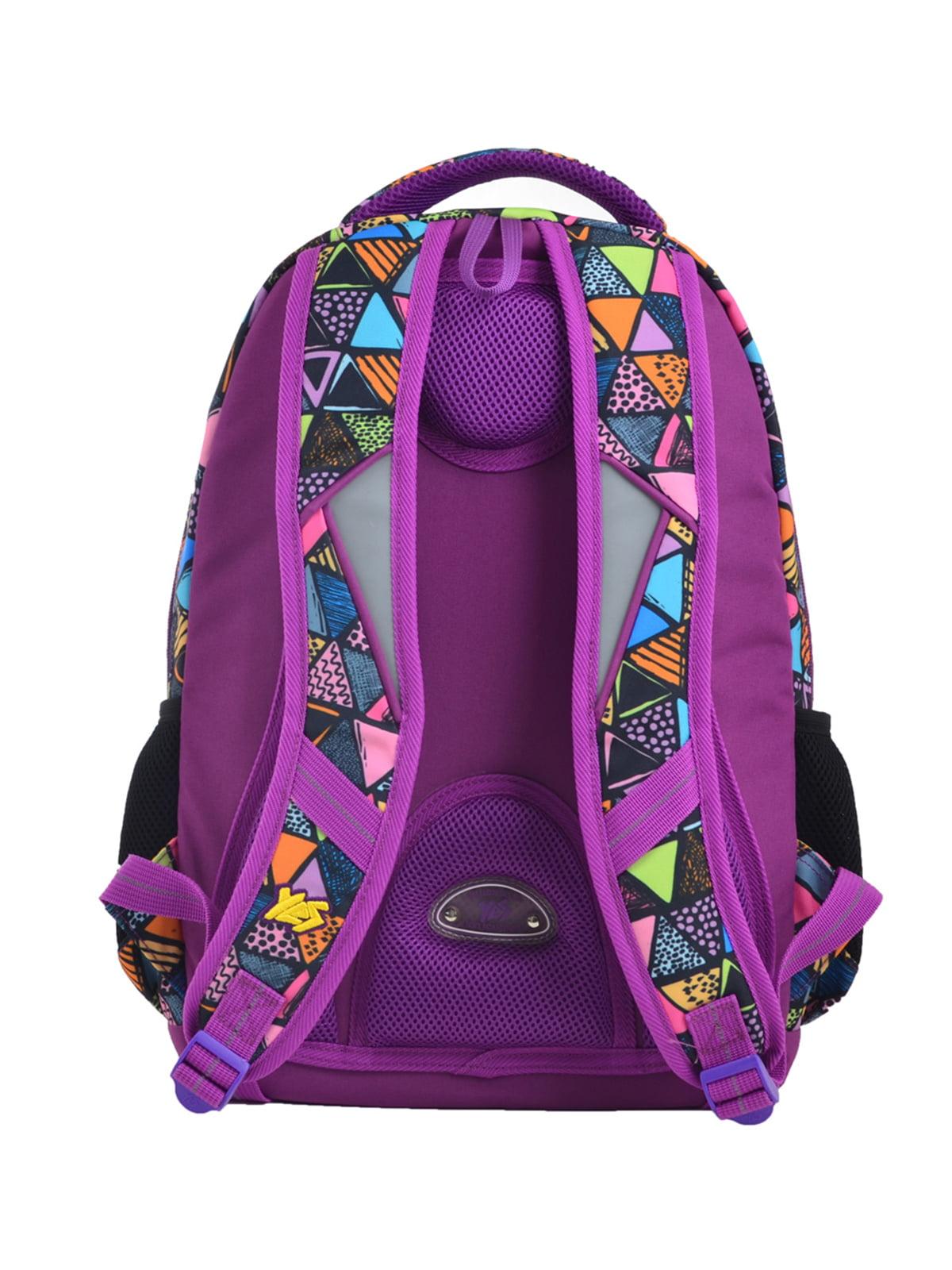 Рюкзак фіолетовий в принт   4235693   фото 4