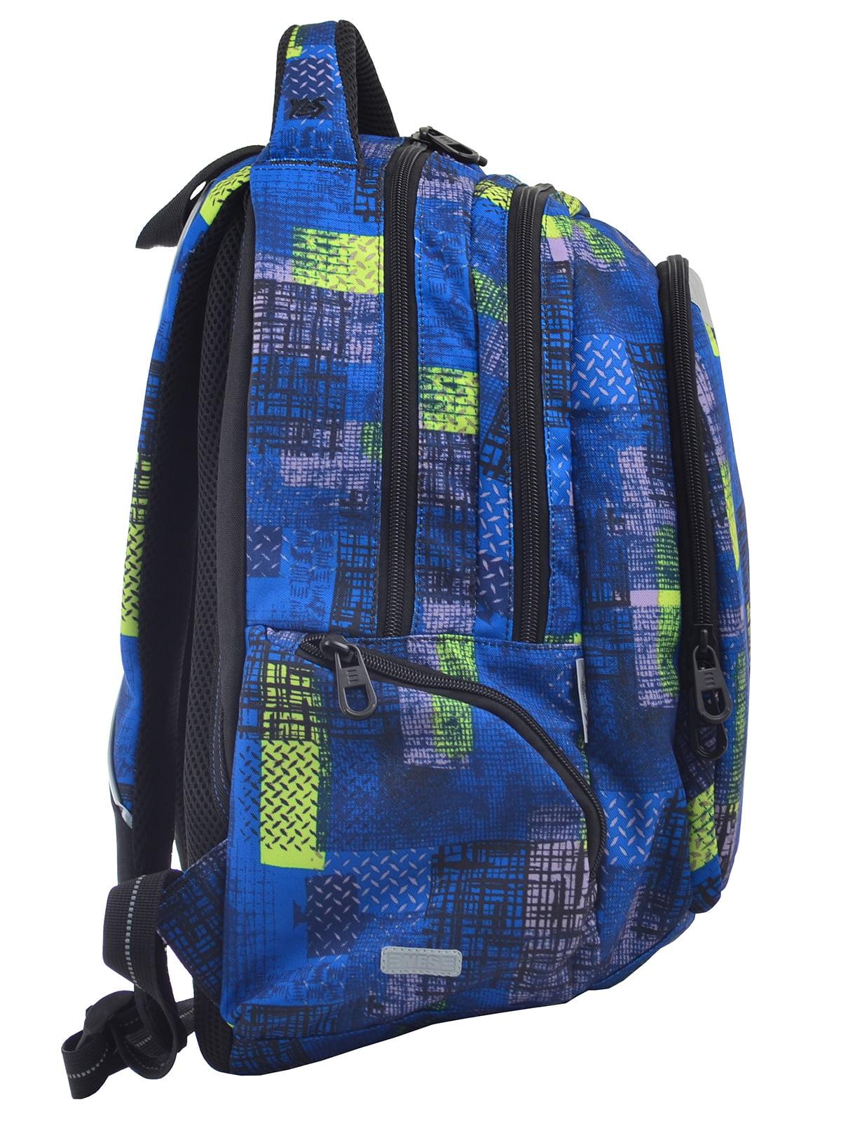 Рюкзак синій в принт | 4235703 | фото 2