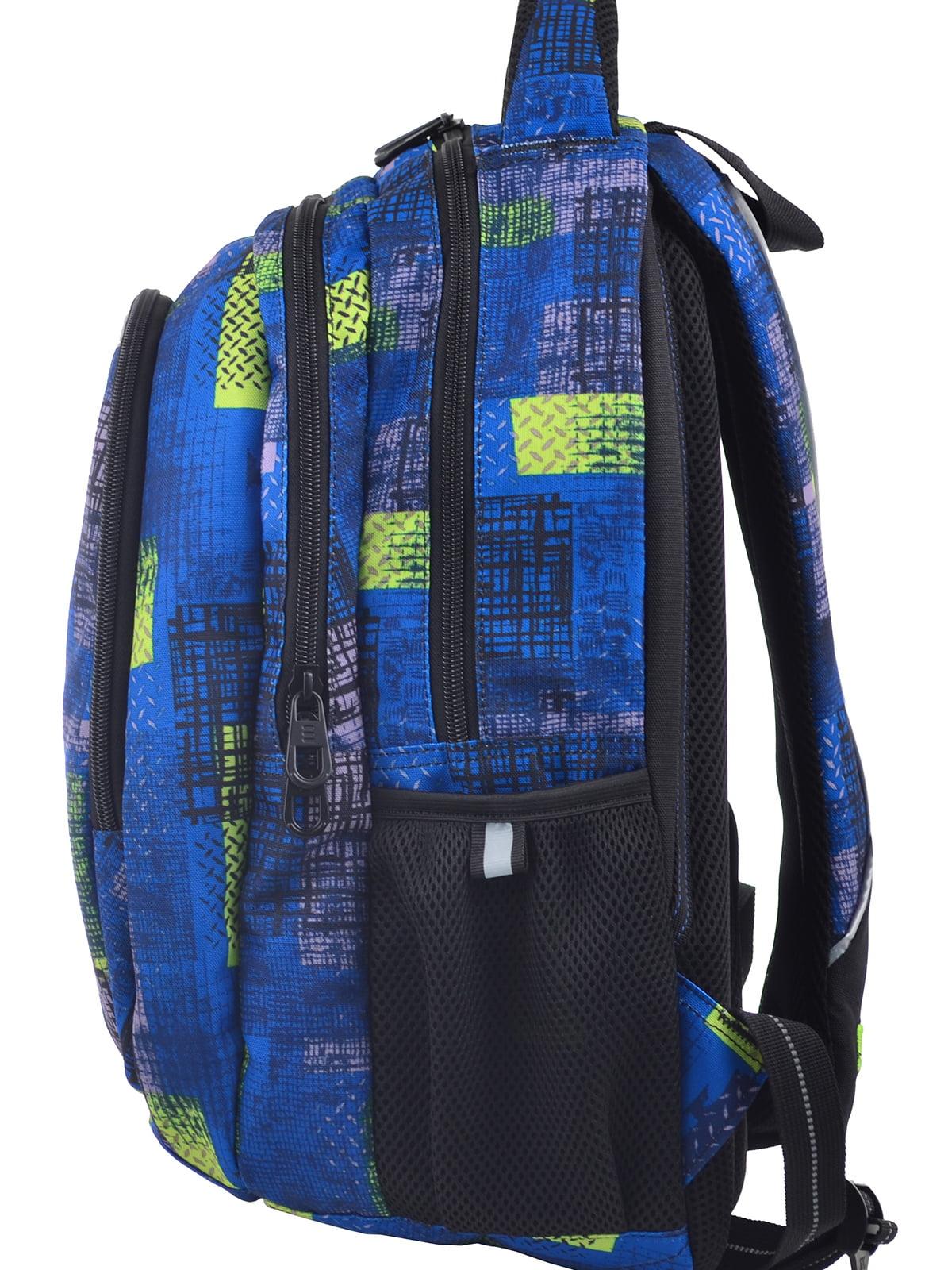 Рюкзак синій в принт | 4235703 | фото 3