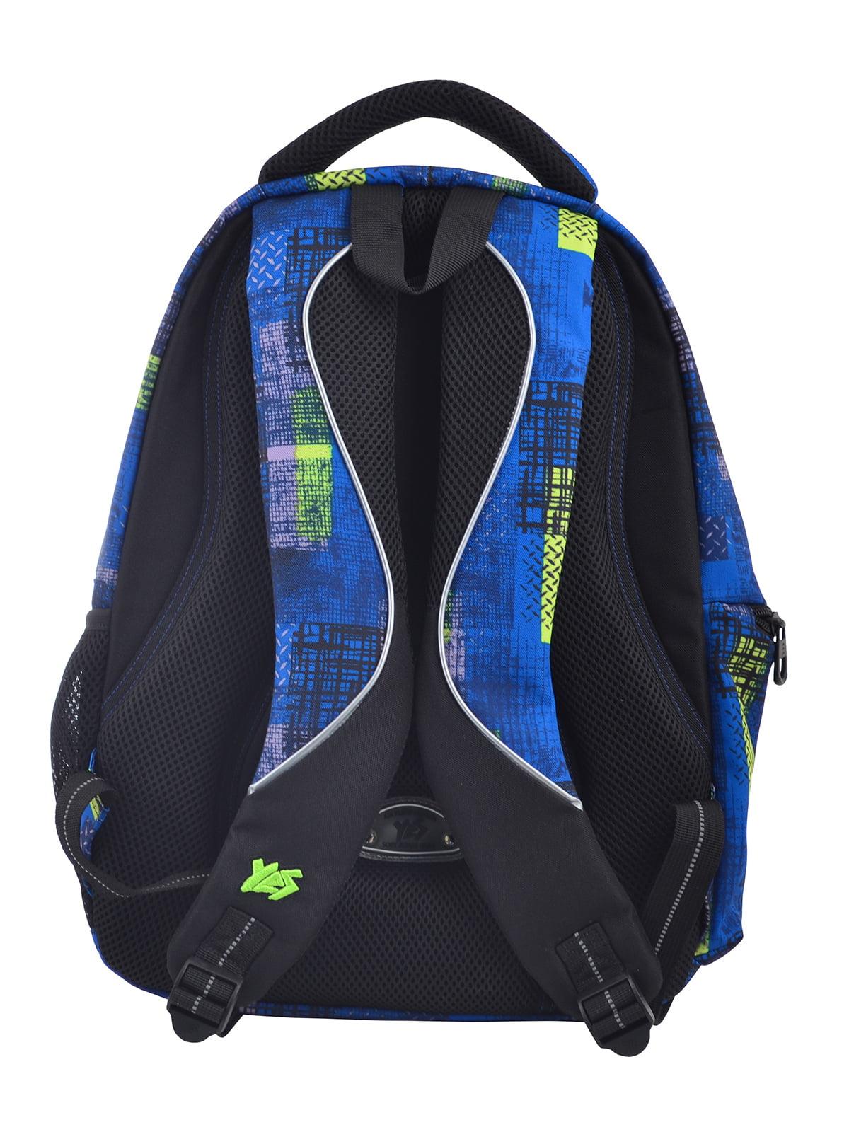 Рюкзак синій в принт | 4235703 | фото 4